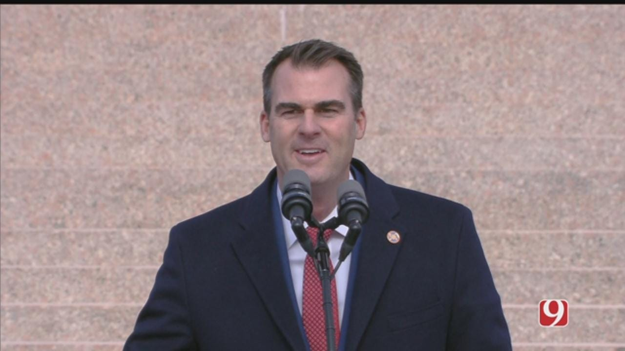 Stitt Inaugurated As Oklahoma's 28th Governor, Other State Leaders Sworn In