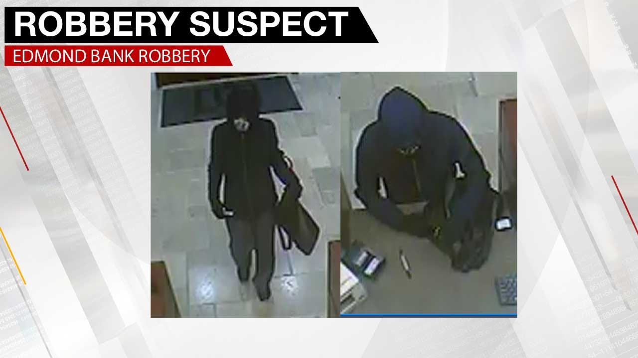 Law Officers Search For Suspect After Edmond Bank Was Robbed Tuesday