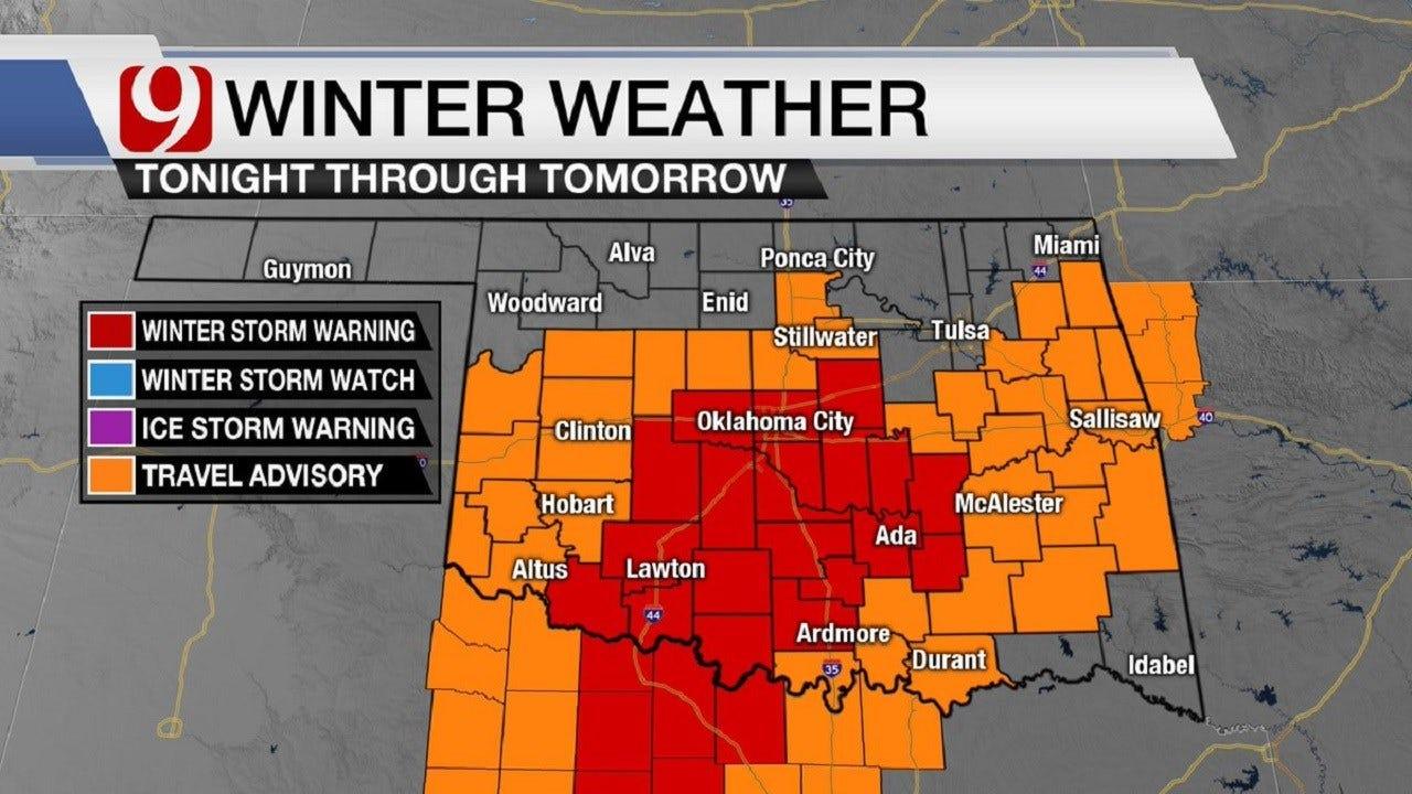 Winter Storm Warning: Freezing Rain Here; Snow Likely Thursday