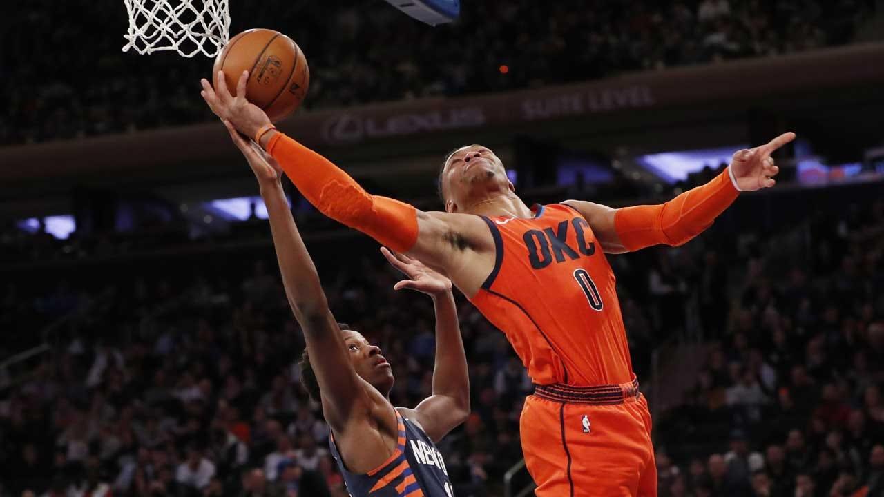 George, Westbrook Lead Thunder Over Knicks 127-109
