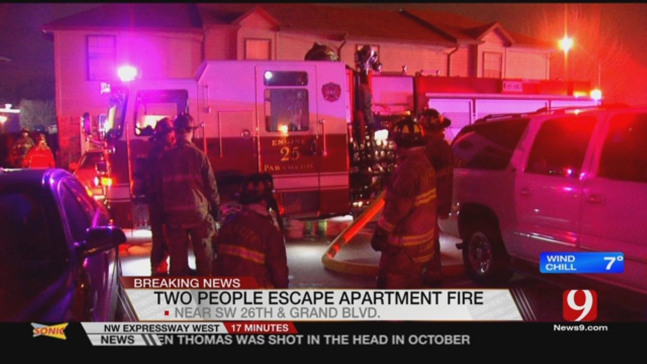 2 Escape From SW OKC Apartment Fire