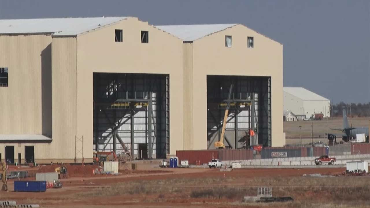 Construction Underway At Tinker Air Force Base For New 'KC-46A Pegasus' Tanker