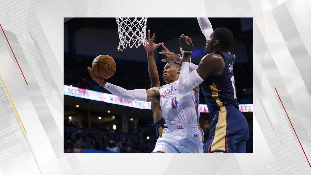 Westbrook's 15th Triple-Double Leads Thunder Past Pelicans