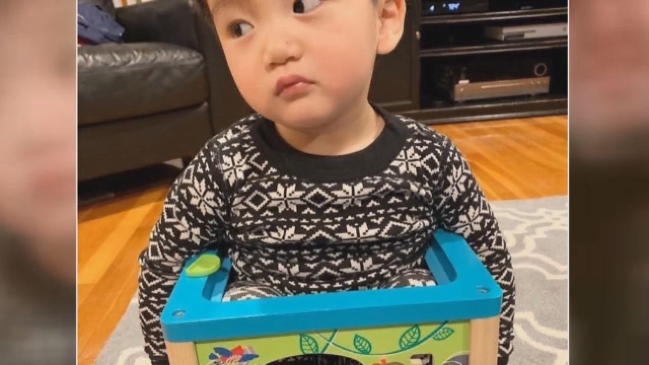 Toddler Gets Stuck In Toy, Goes Viral In Funny Photo