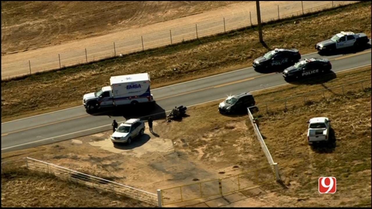 Officer Injured In NE OKC Crash