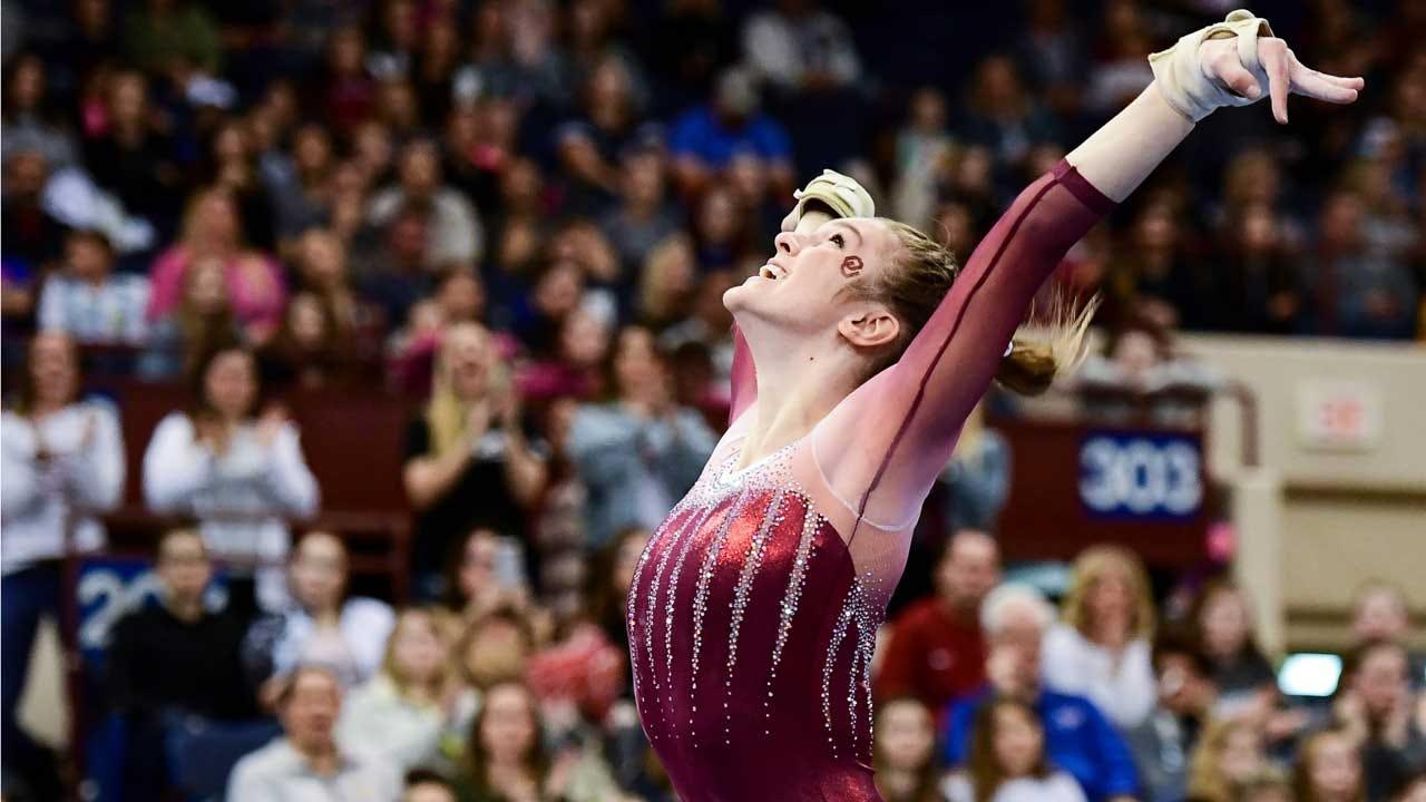 Strong Road Score Keeps OU Women's Gymnastics Team At No. 1