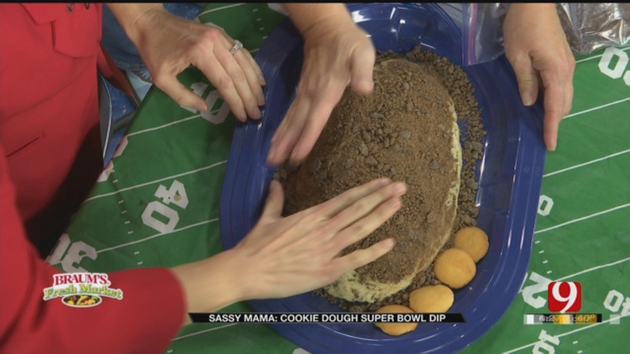 Chocolate Chip Cookie Dough Super Bowl Dip