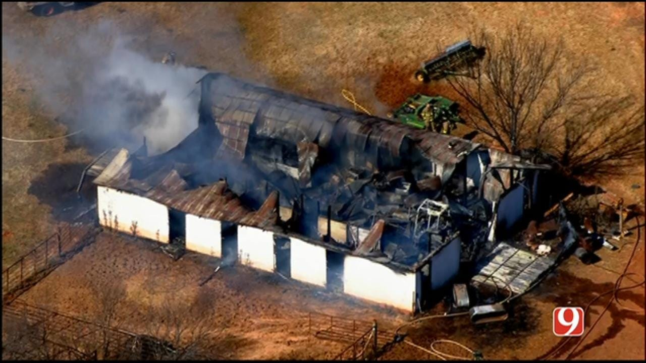 Structure Fire Reported Near Little Axe