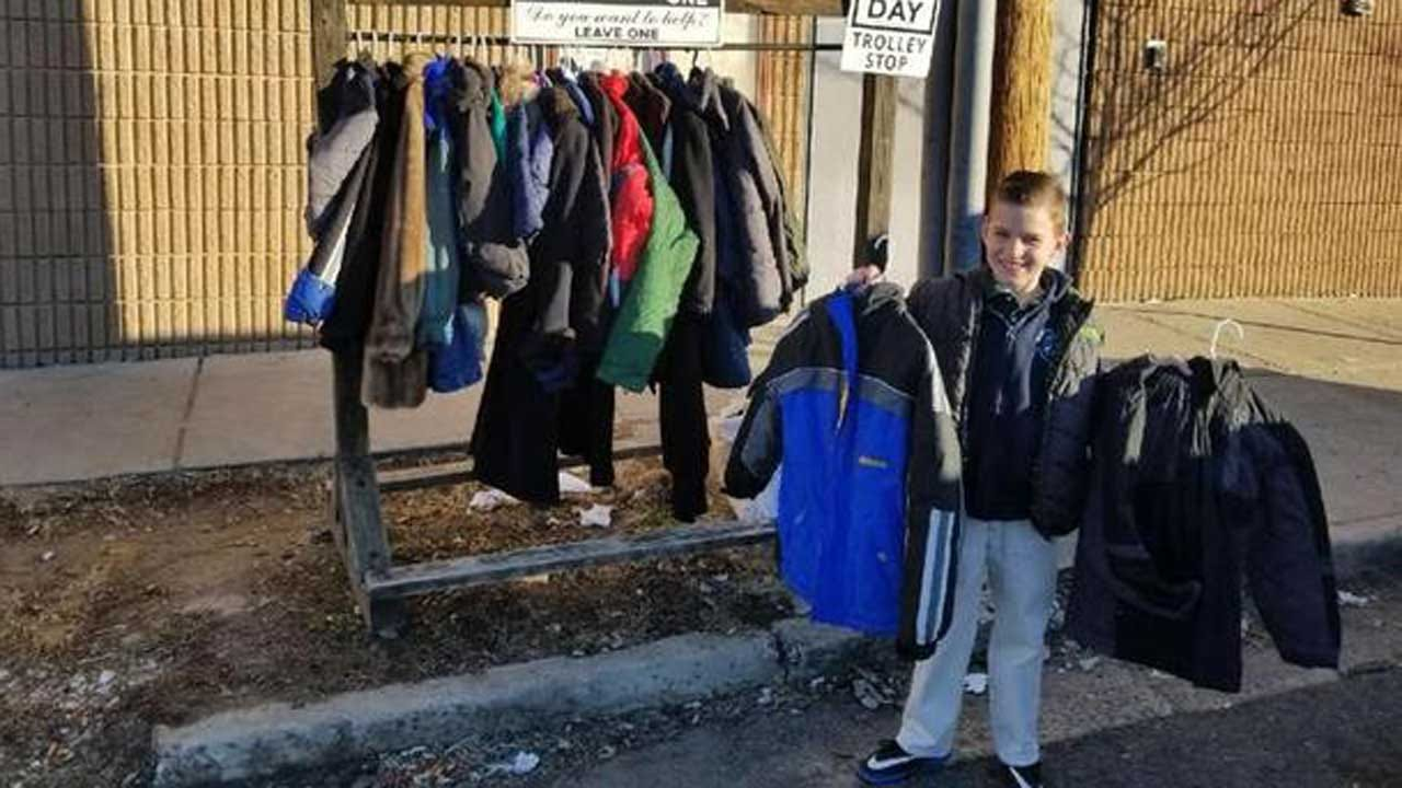 9-Year-Old Boy Collects Coats To Help Those In Need