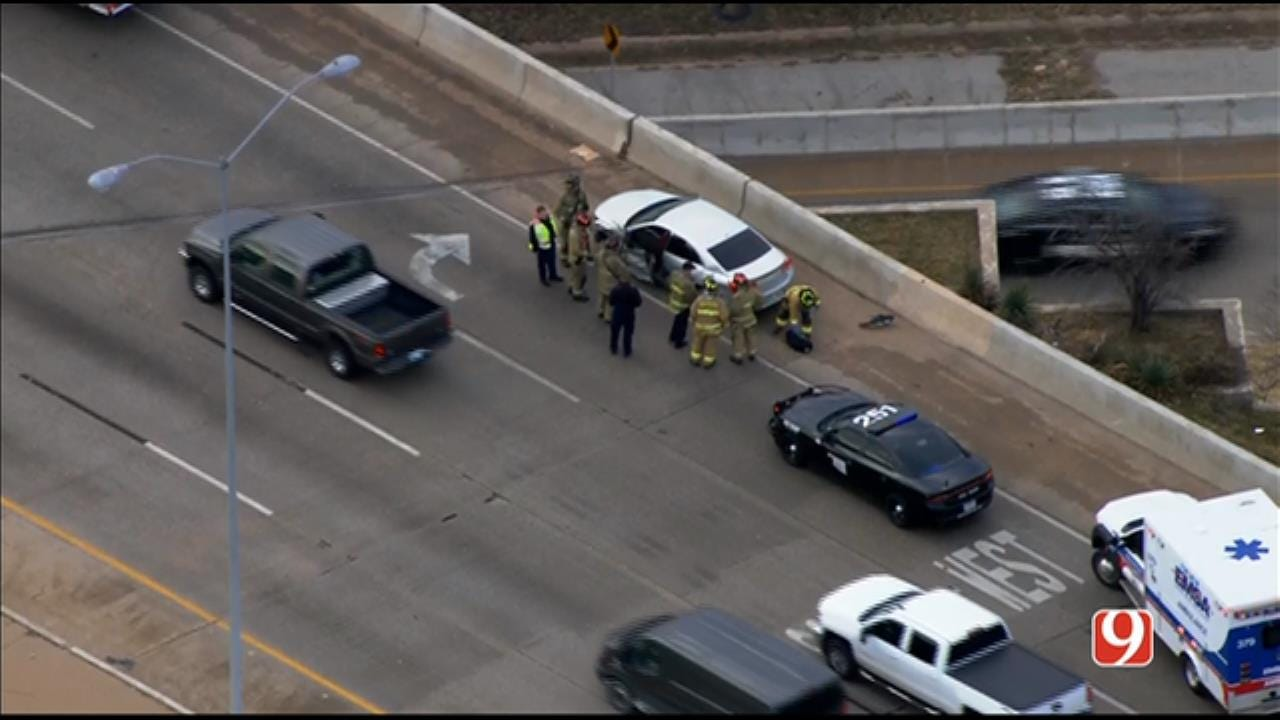 Emergency Crews Respond To Injury Accident On I-235