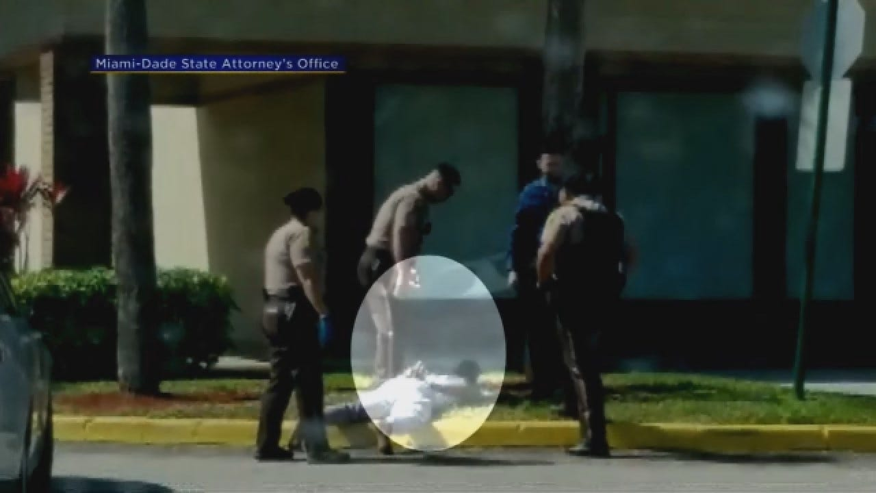 Caught On Camera: Video Shows Police Sergeant Kicking Handcuffed Suspect