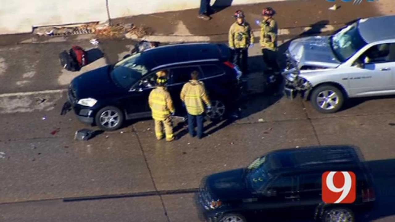 Crews Respond To Multi-Vehicle Crash On WB I-44 In OKC