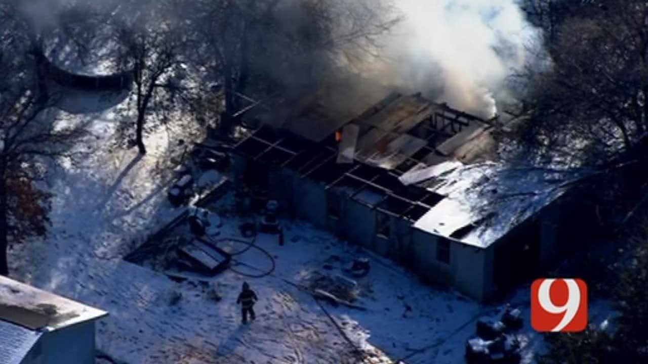 Firefighters Battle Structure Fire In Edmond