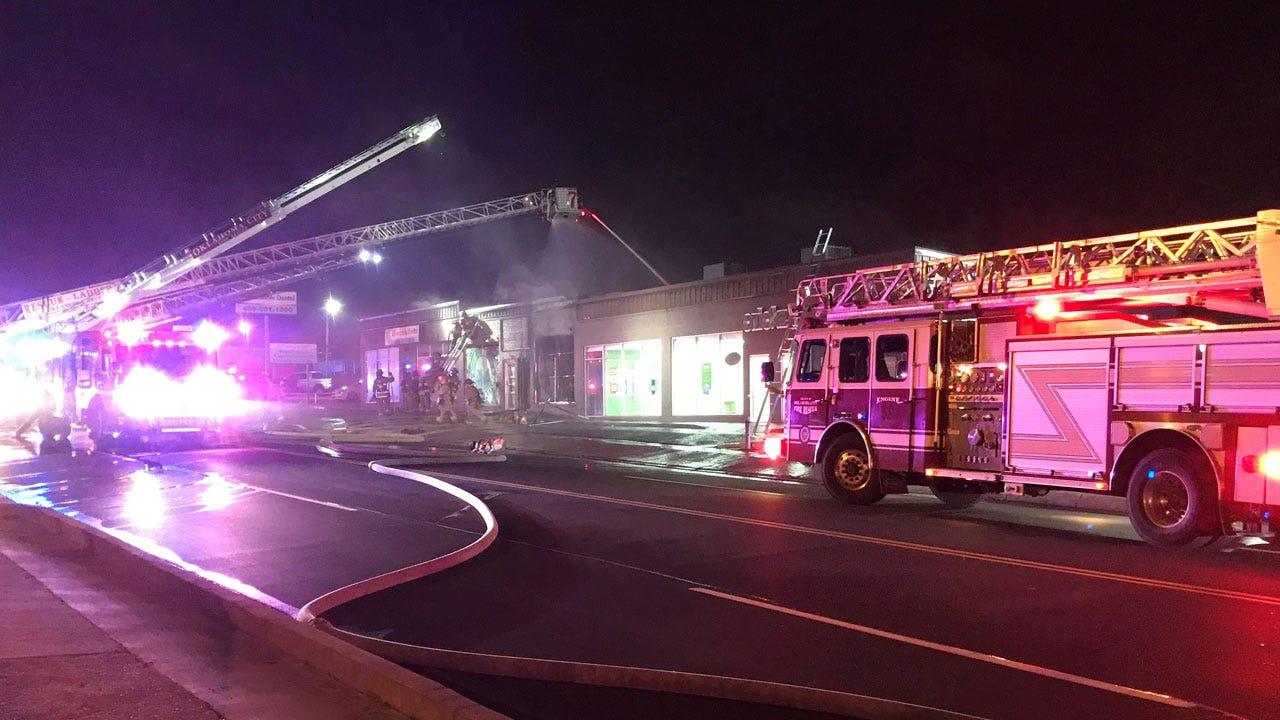 Firefighters Battle Large Fire At SW OKC Medical Marijuana Dispensary