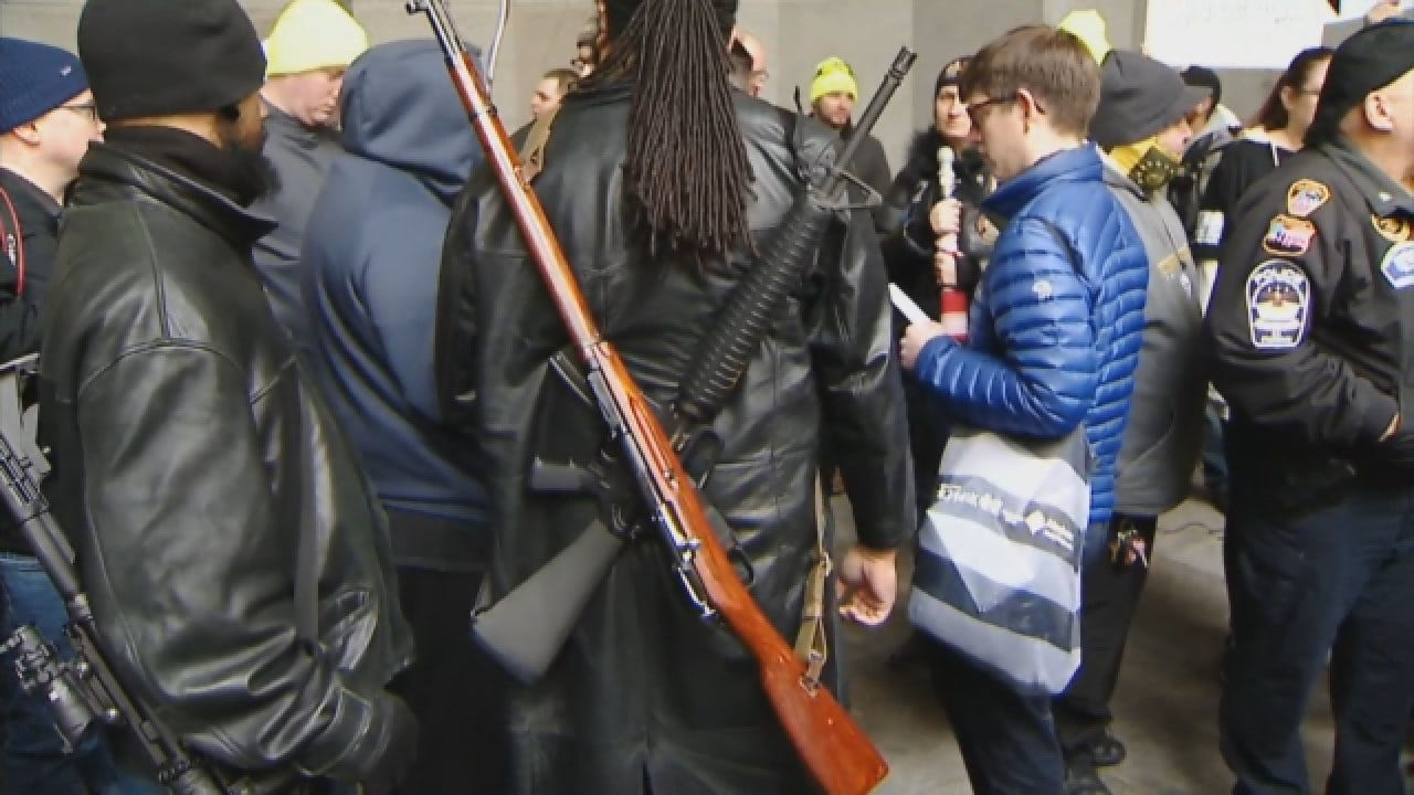 Pittsburgh Gun Rally Brings Hundreds Of Protesters To Downtown