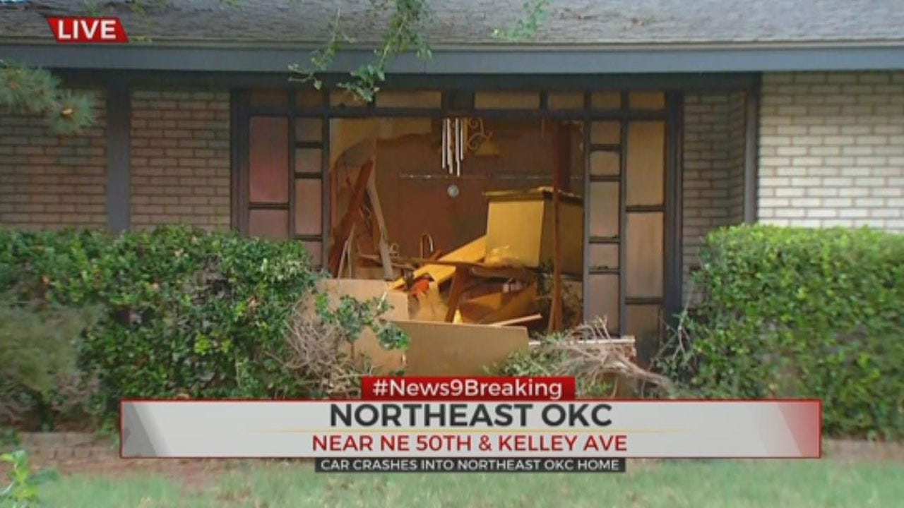 Man Arrested For DUI After Crashing Into Front Of NE OKC Home