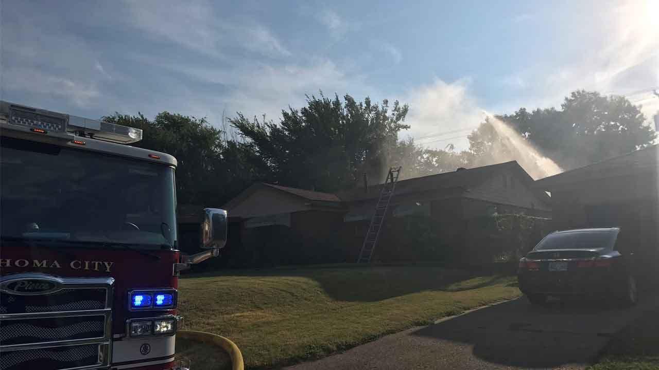 Crews Battle House Fire In Northeast Oklahoma City