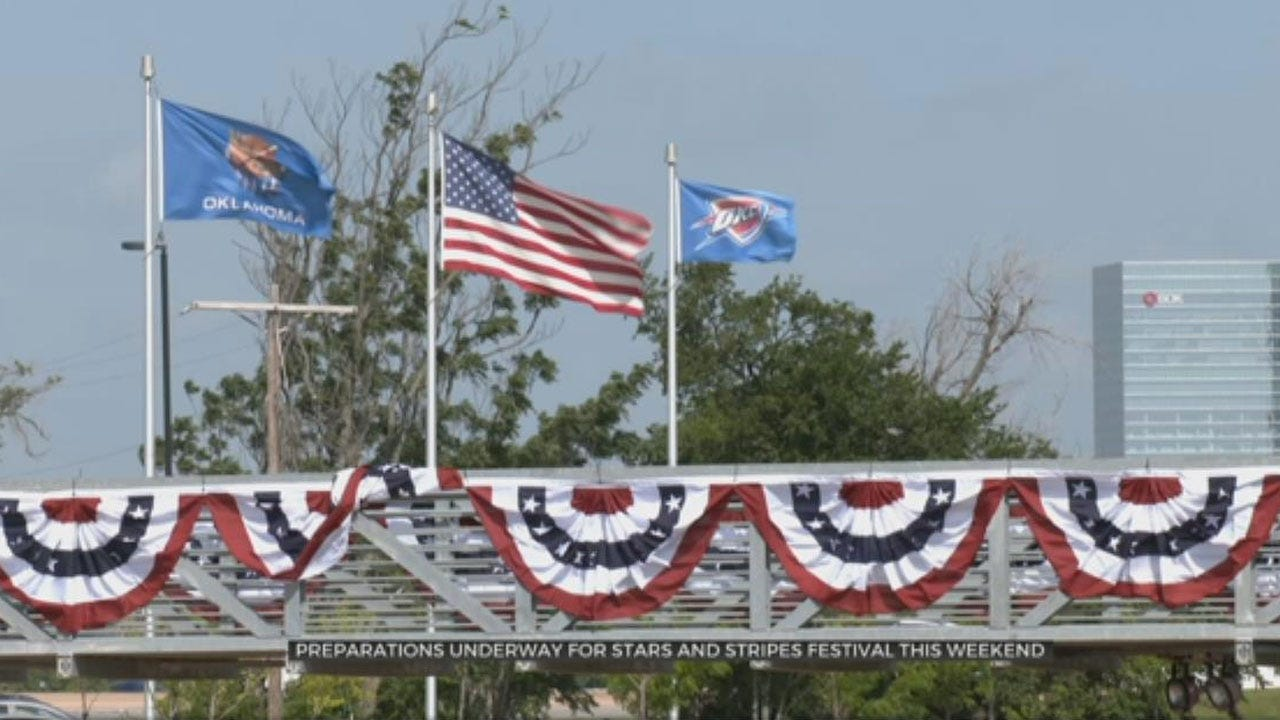 Preparations Underway For Stars And Stripes Festival At OKC Boat House District
