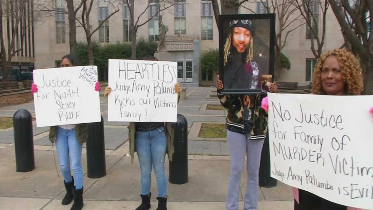 OKC Murder Victim's Family Protests After Judge Bans Them From Courthouse