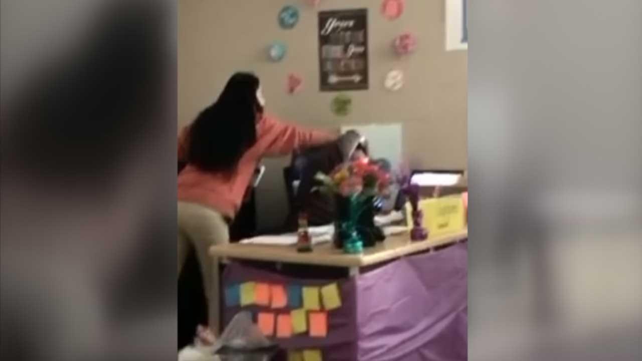 Caught On Camera: Teacher Assault At OKCPS High School