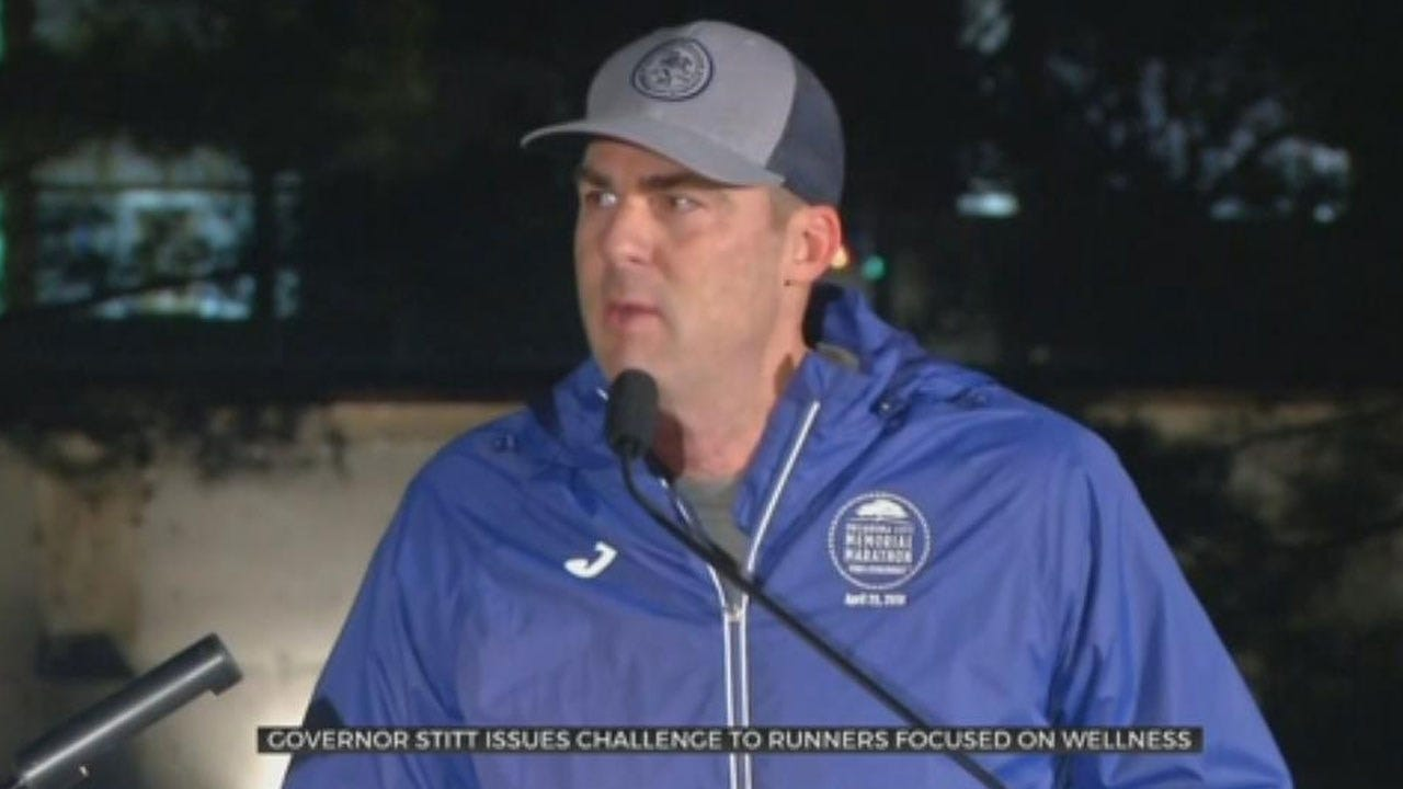 Gov. Stitt Announces Relay Challenge For Oklahoma City Memorial Marathon