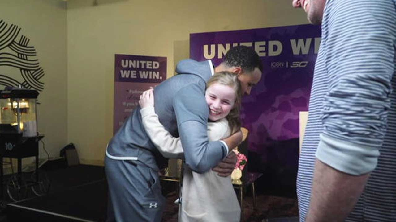 Steph Curry Surprises Girl Who Asked Him Why His Shoe Line Wasn't Sold To Girls