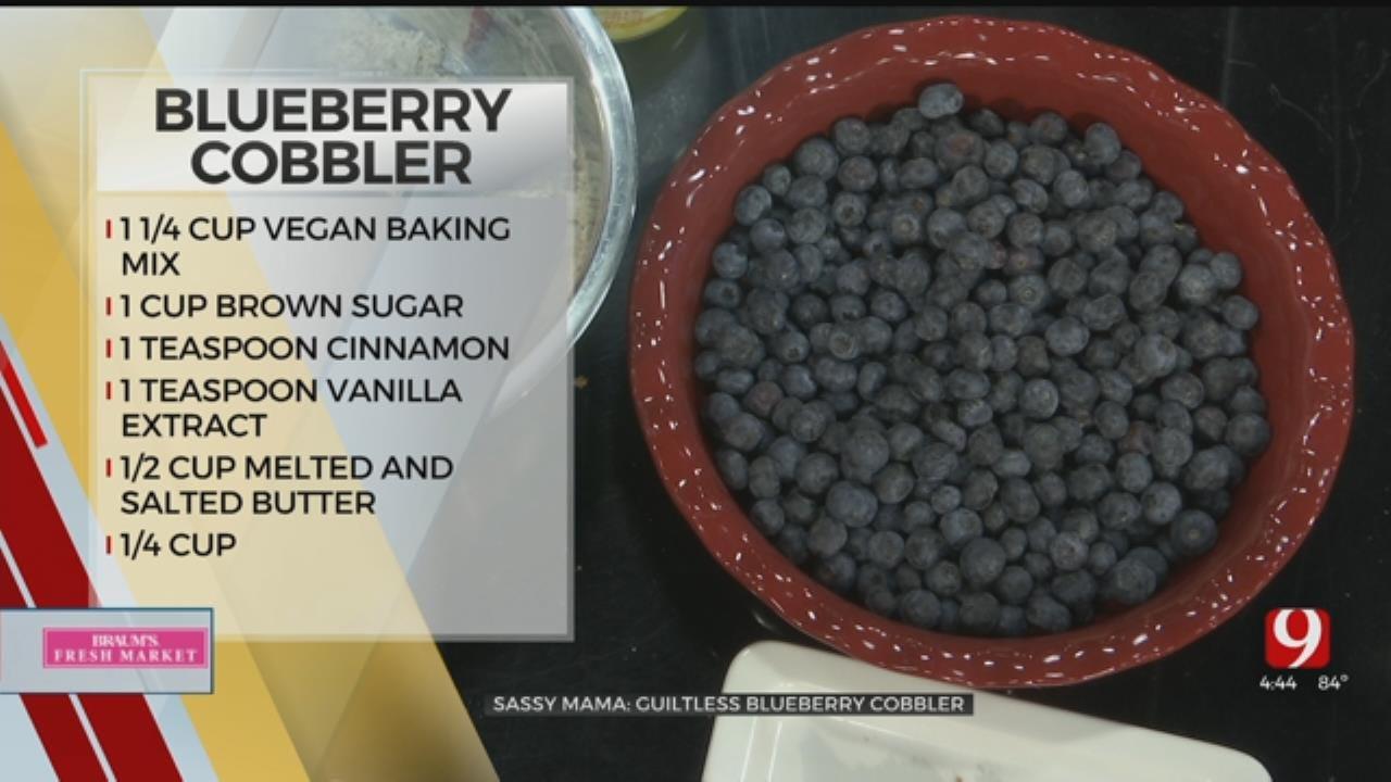 Guiltless Blueberry Cobbler
