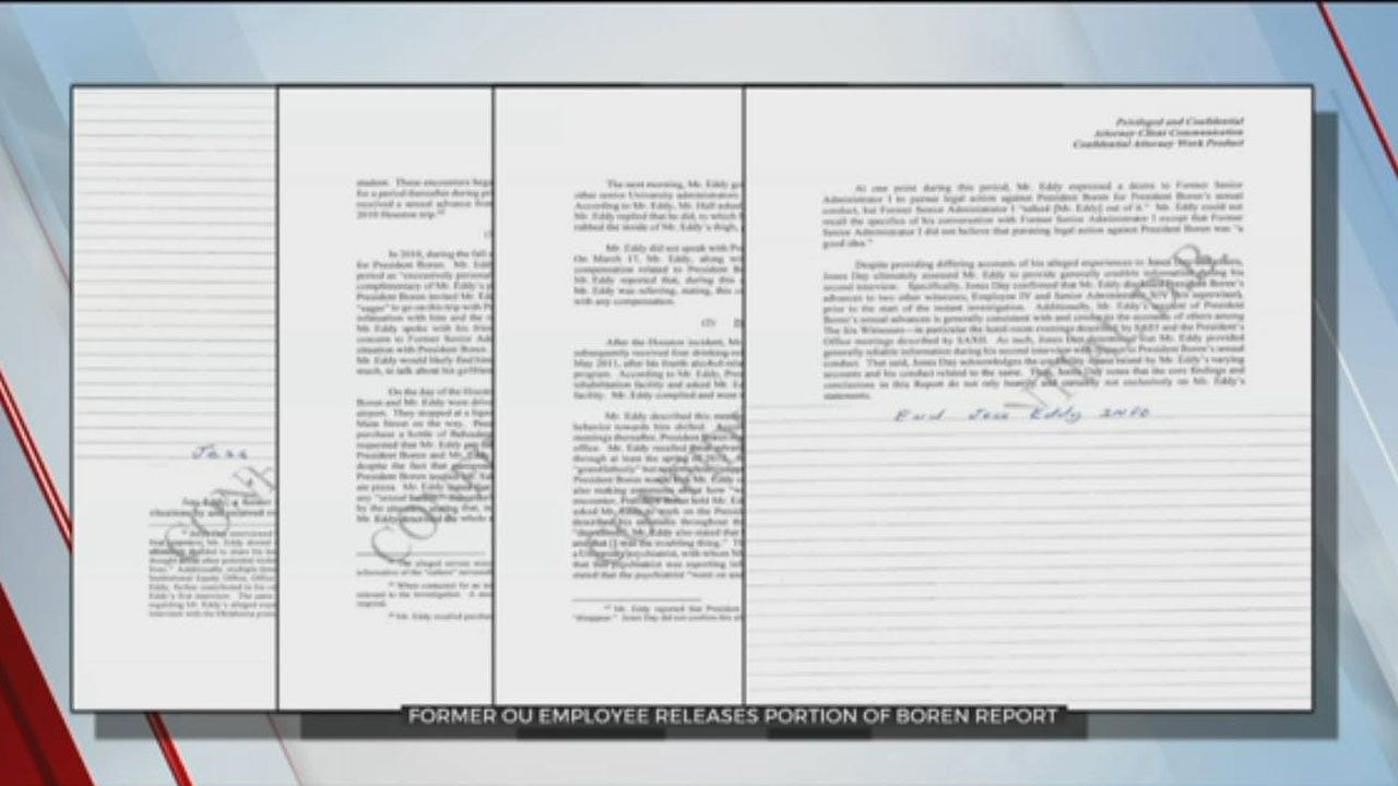 OU Investigators Interview 6 Witnesses, Say Boren Accuser Is 'Generally Credible'