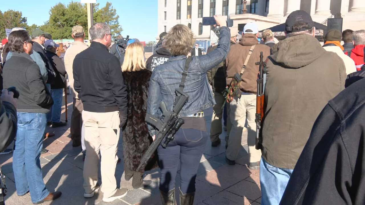Second Amendment Supporters Celebrate Permitless Carry Law At State Capitol