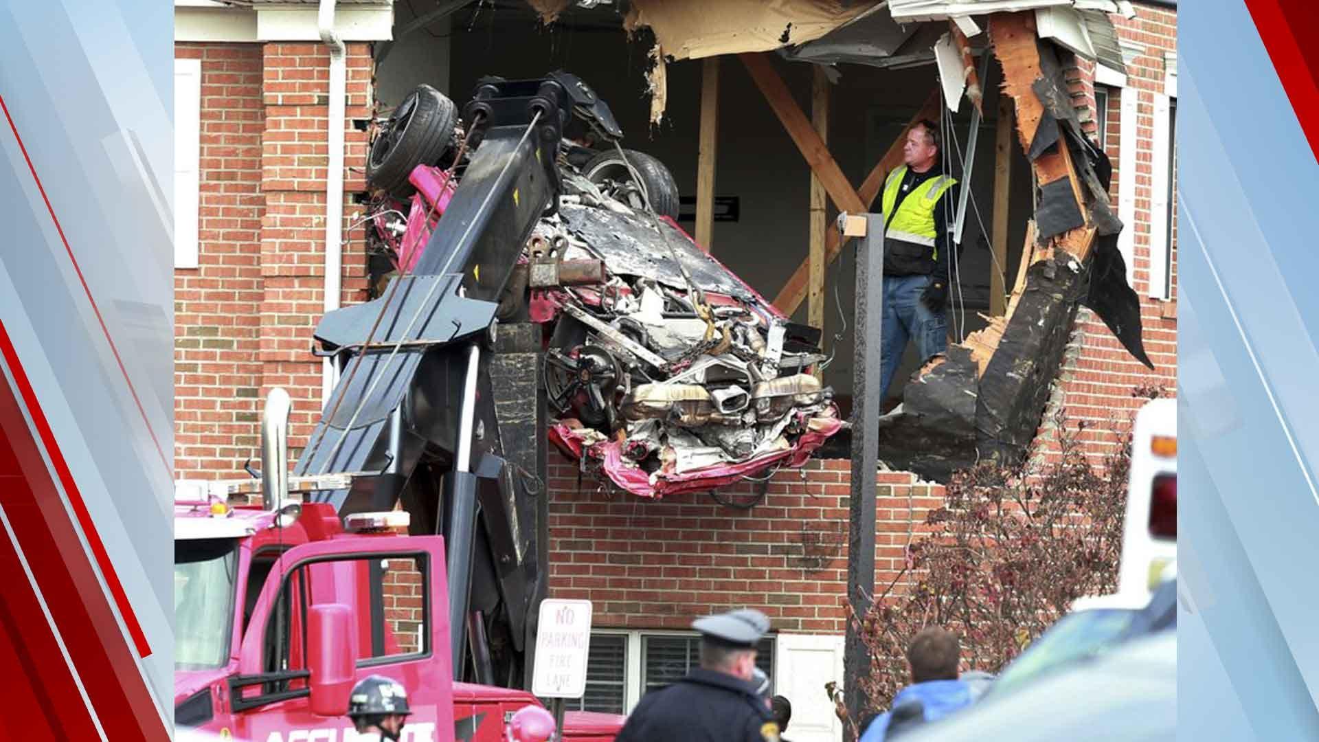 2 Dead After Porsche Crashes Into Building's 2nd Floor