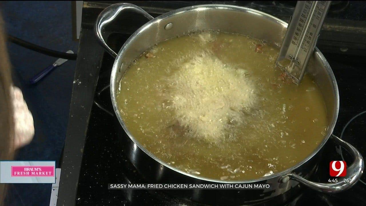 Fried Chicken Sandwich with Cajun Mayo