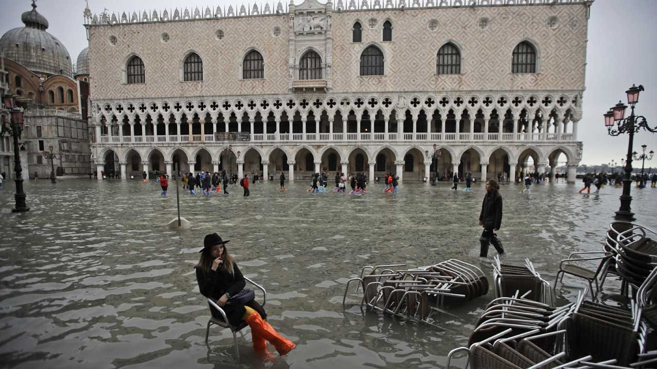 Emergency Declared In Venice, Italy Over High Tides Battering City