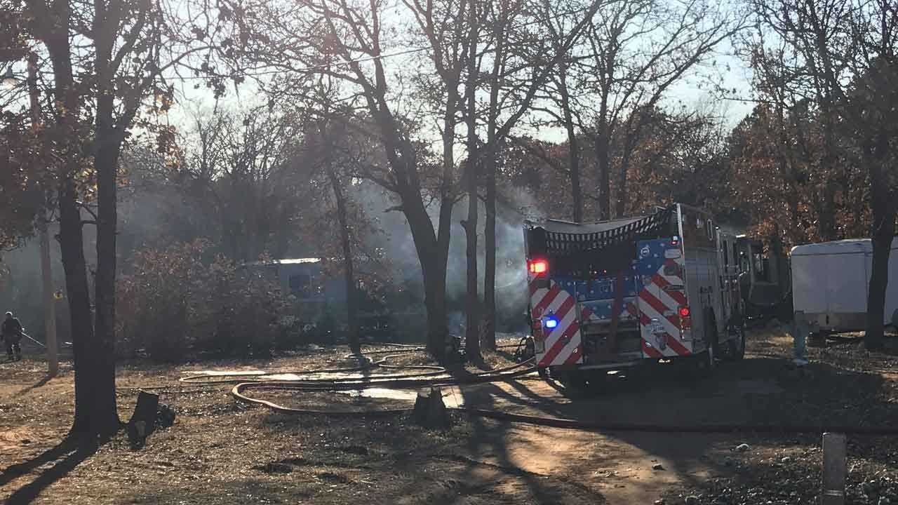 Trailer Home A Total Loss After Fire In SE OKC
