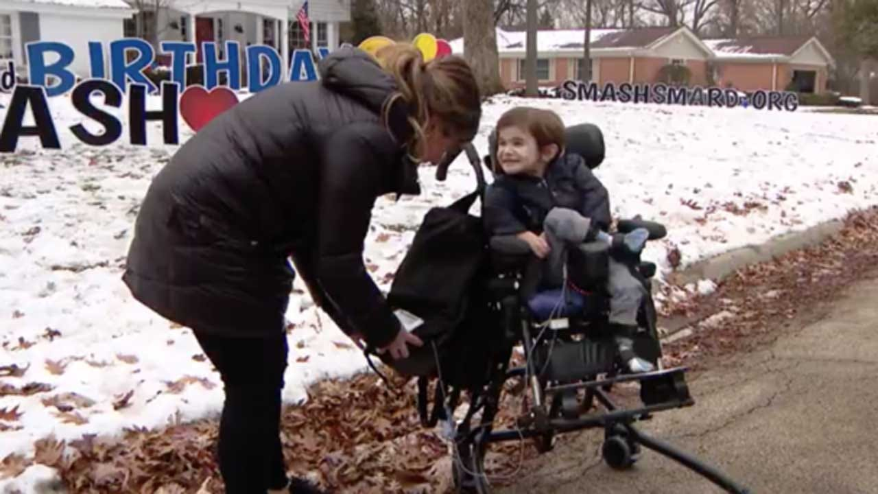Boy With Rare Disease Gets Parade For 3rd Birthday