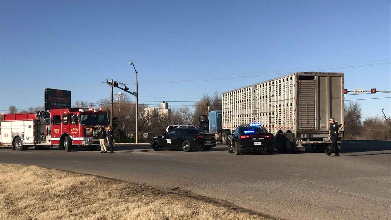 Emergency Crews Respond To Fatal Crash Involving Semi, Motorcycle On Highway 66