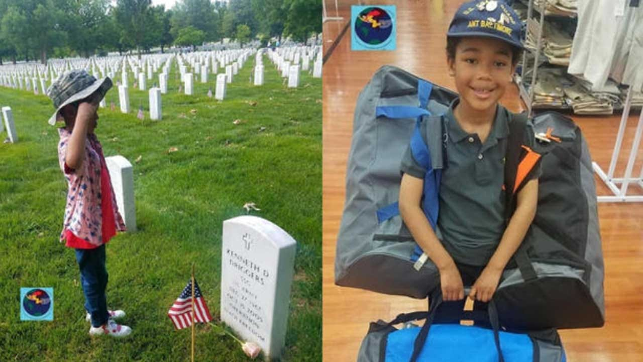 8-Year-Old Dedicated To Helping Homeless Veterans Starts Company To Give Out 'Hero Bags' Filled With Essentials