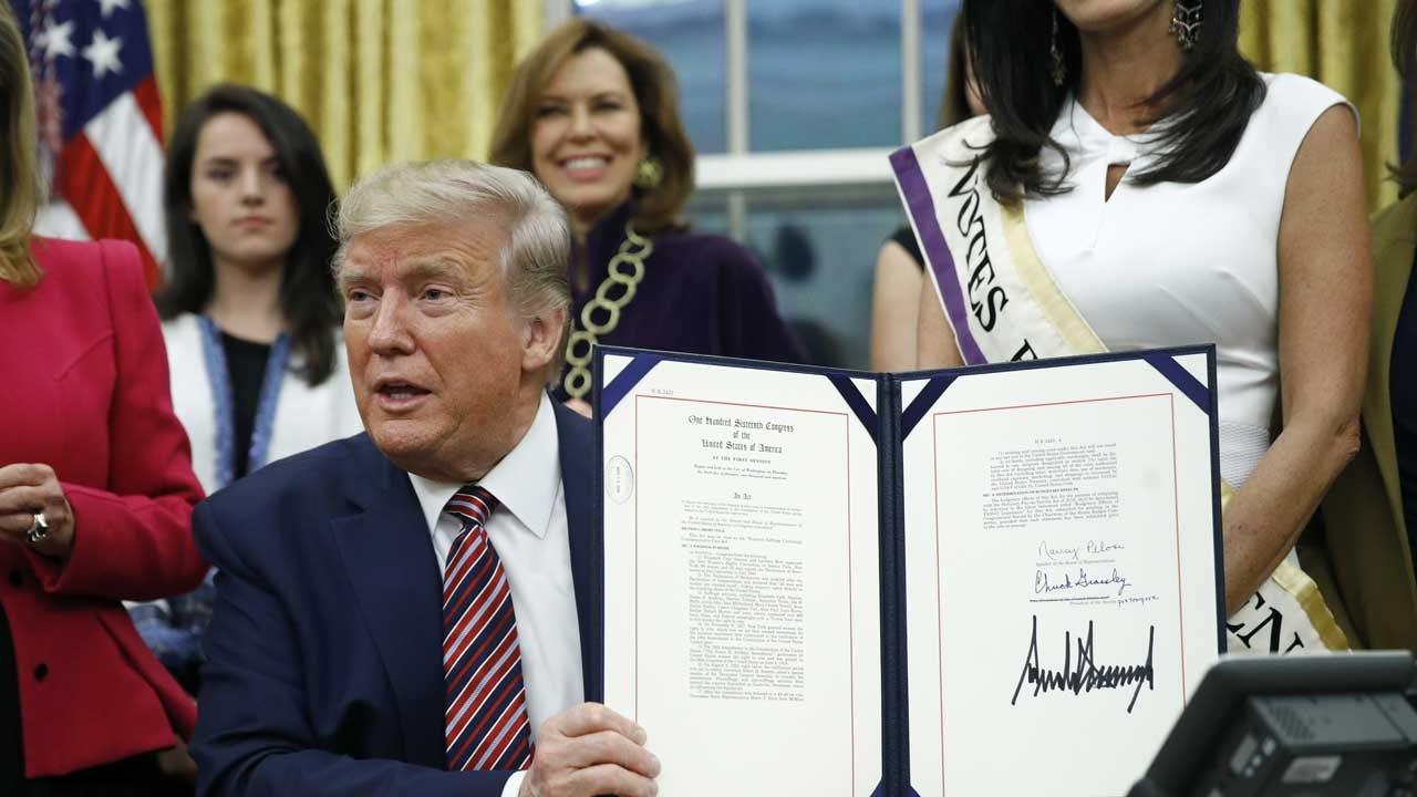 President Trump Signs Bill To Honor Women's Suffrage