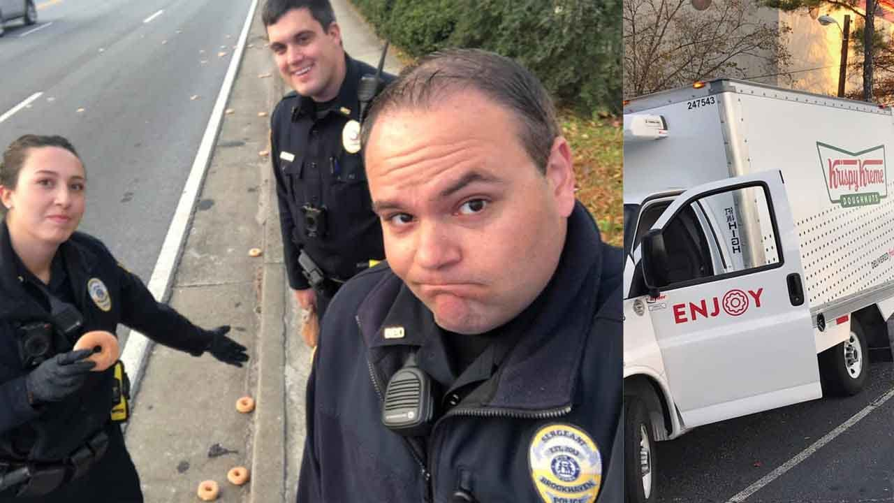 Act Of Kindness Softens Police Sorrow Over Spilled Doughnuts