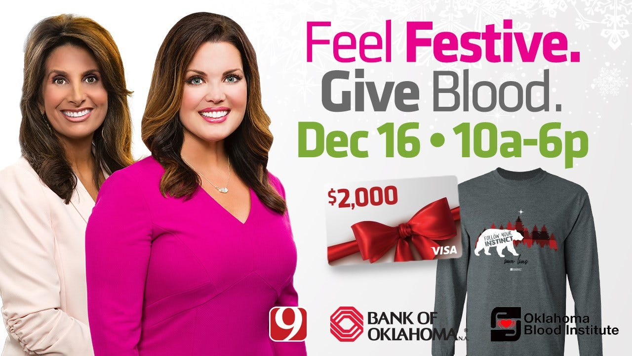 News 9 And Bank of Oklahoma Announce Holiday Blood Drive