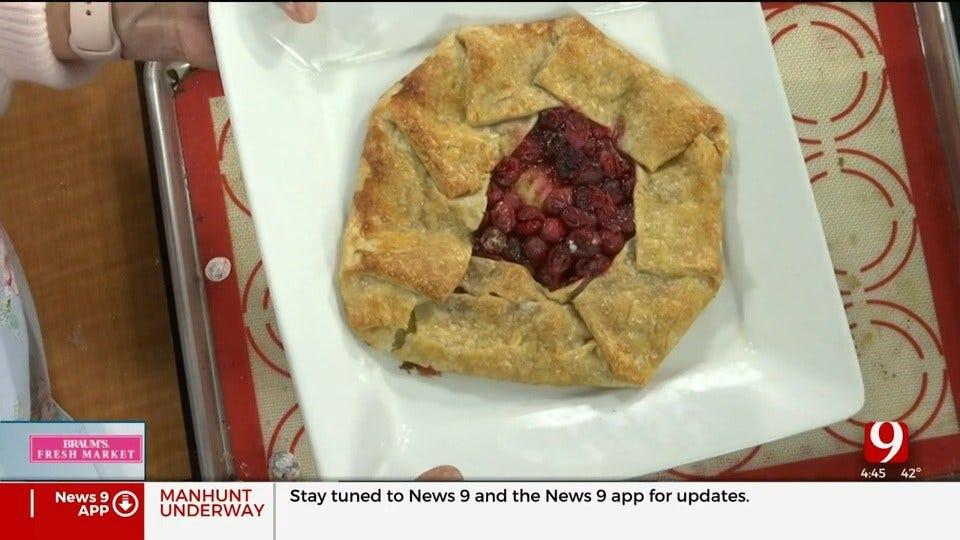 Rustic Apple Cranberry Pie