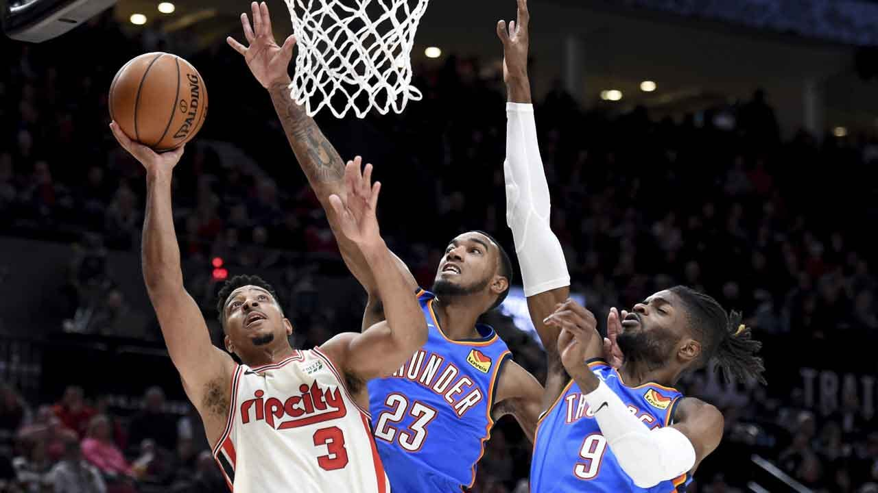 OKC Thunder Defeated In Battle Against Blazers, 136-119