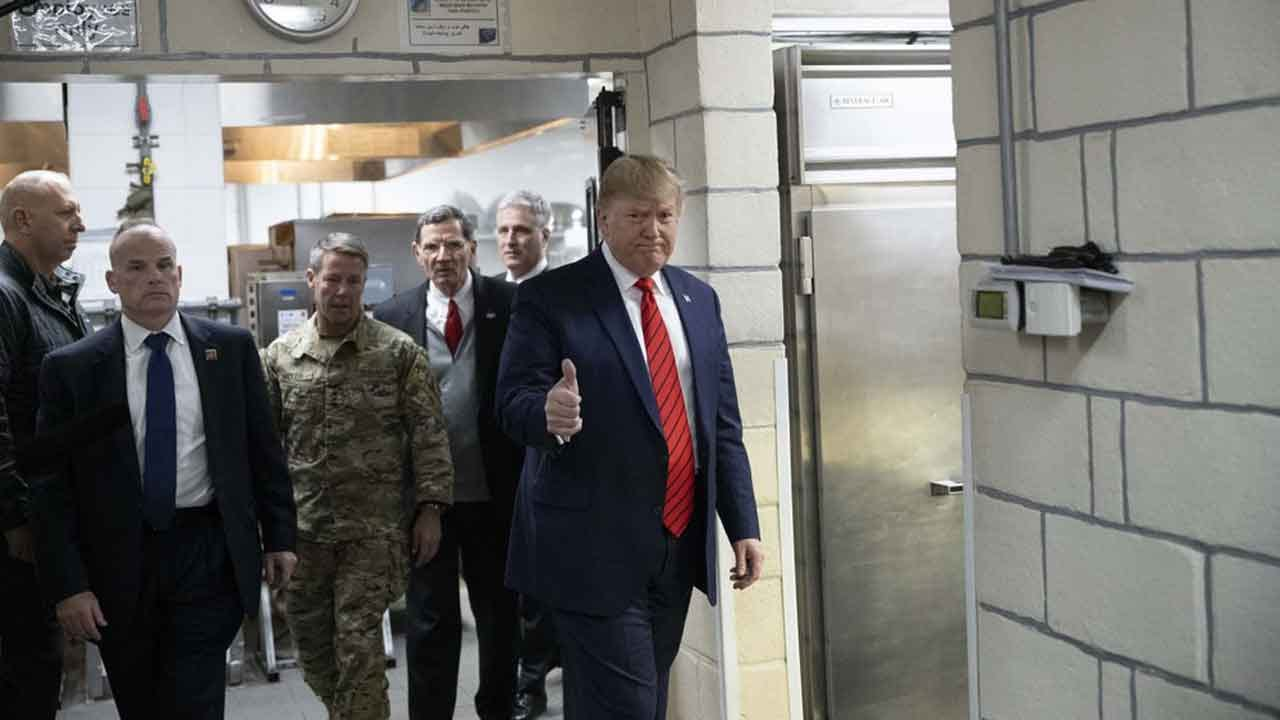President Trump In Afghanistan For Surprise Thanksgiving Visit To US Troops