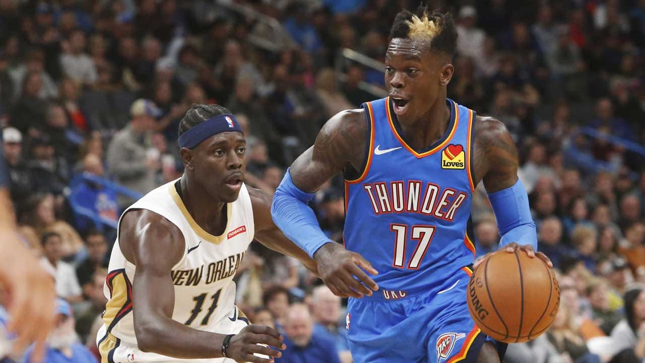 Schroder Scores 25, Thunder Top Pelicans With Late Flurry