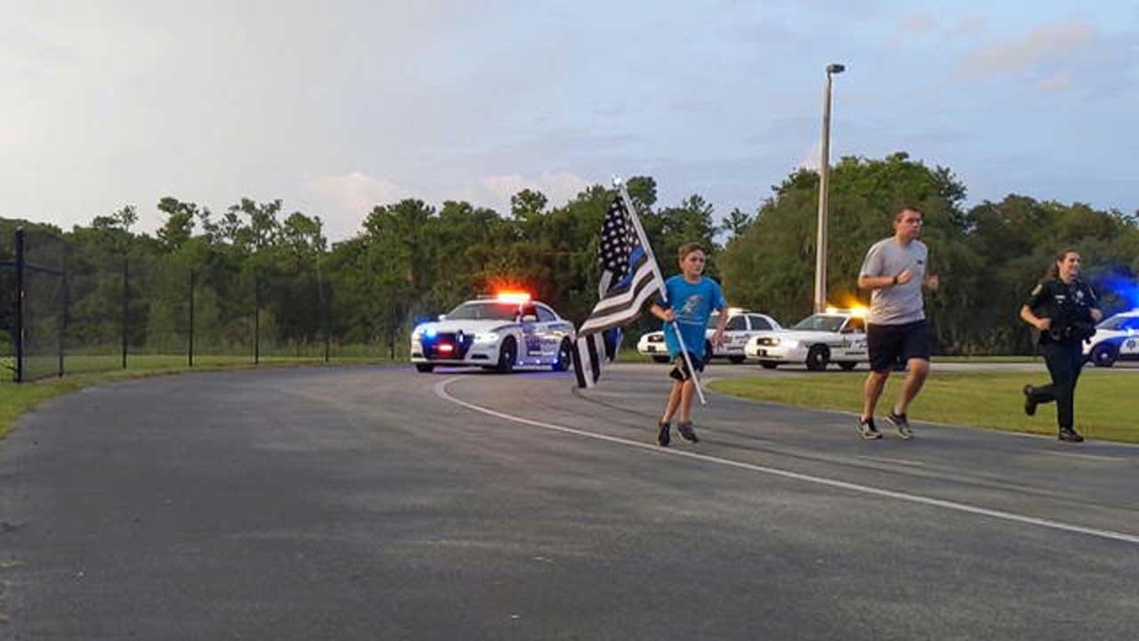 11-Year-Old Running For Fallen First Responders Inspires Others Across The Country