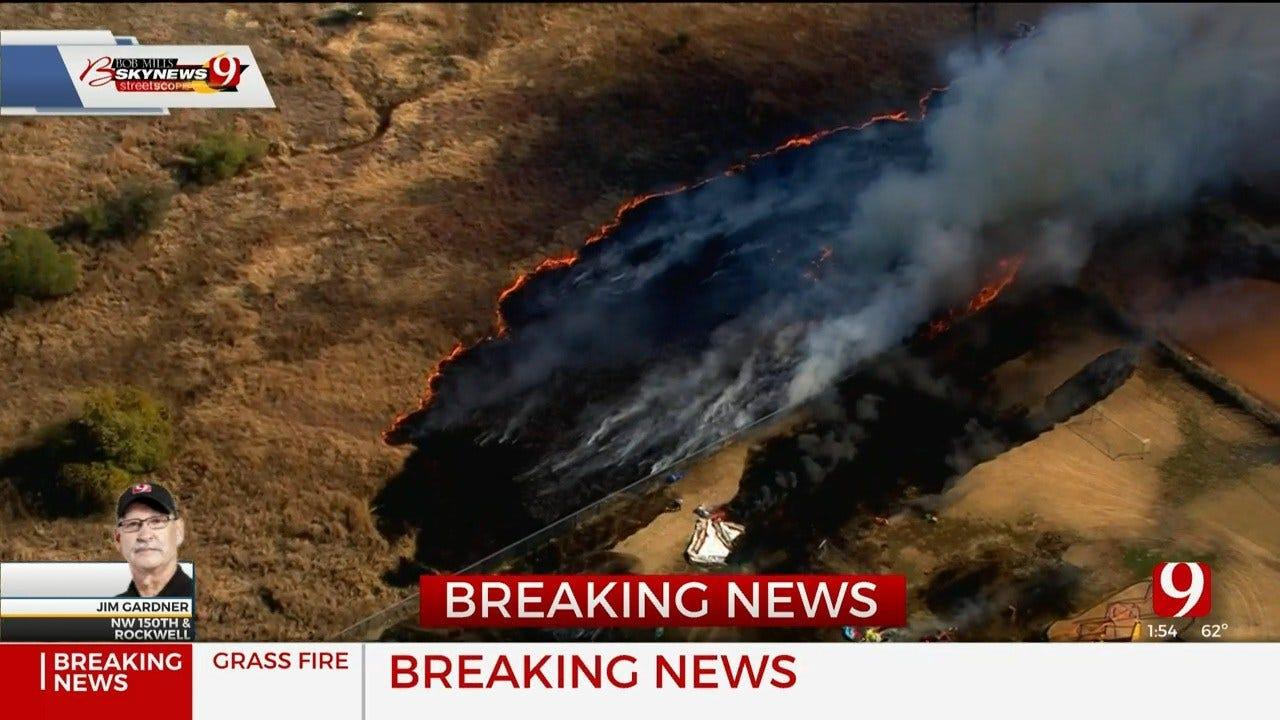 Grass Fire Reported Near Deer Creek Elementary School