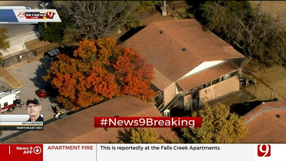 Firefighters Battle NW OKC Apartment Fire