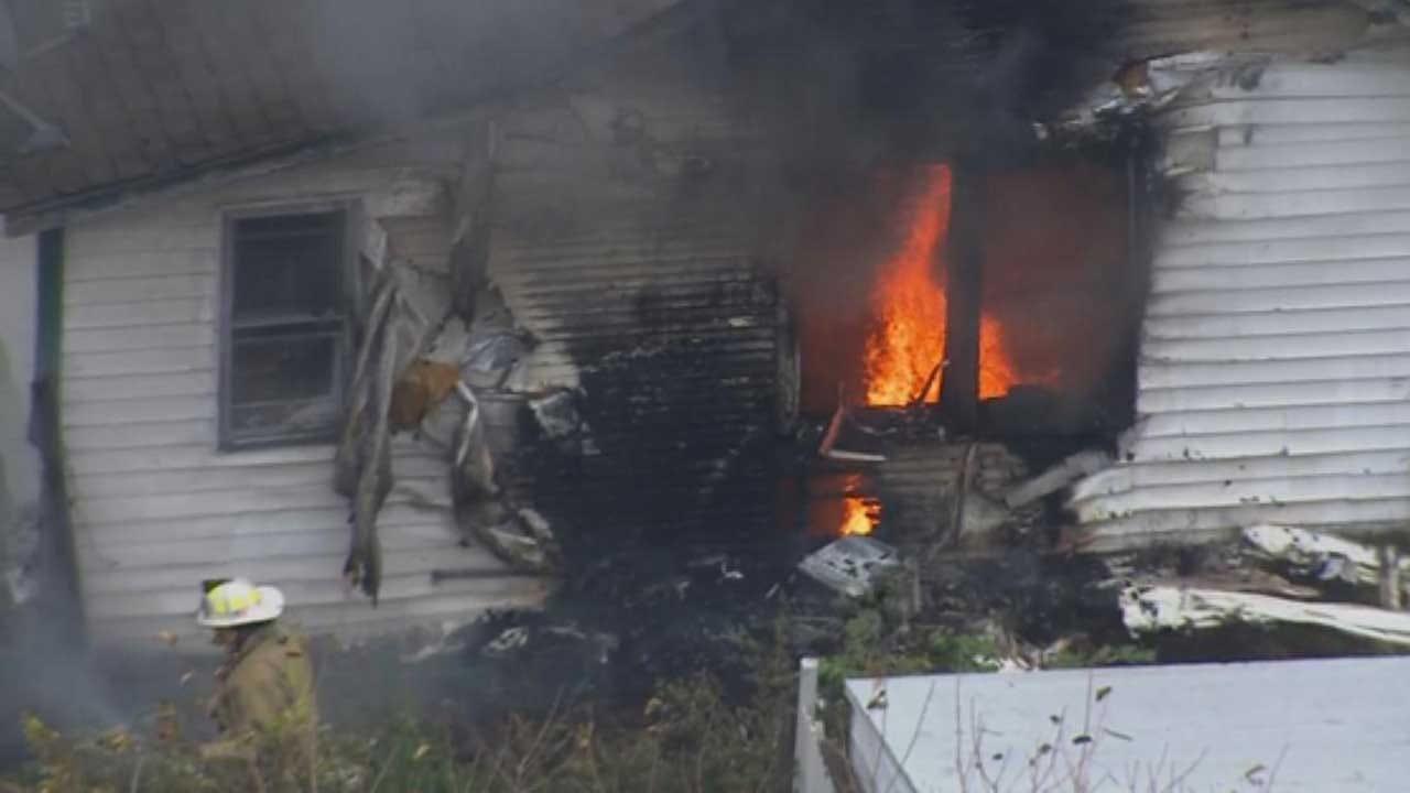 OKCFD: Firefighters Battle House Fire In SE OKC