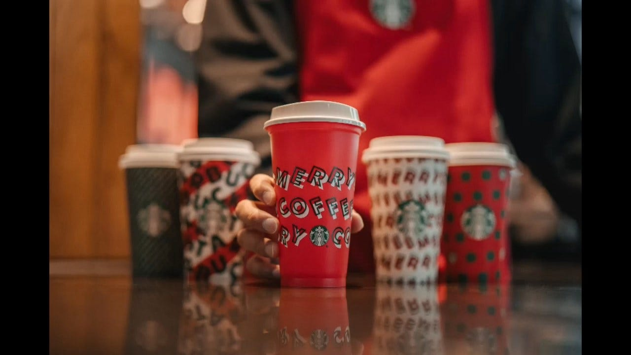 Starbucks Unveils 5 New Holiday Cups – Including An Environmentally Friendly Reusable One