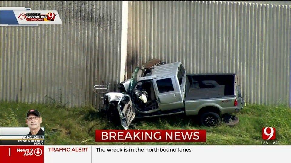 1 Dead In Injury Crash On NB Lake Hefner Parkway