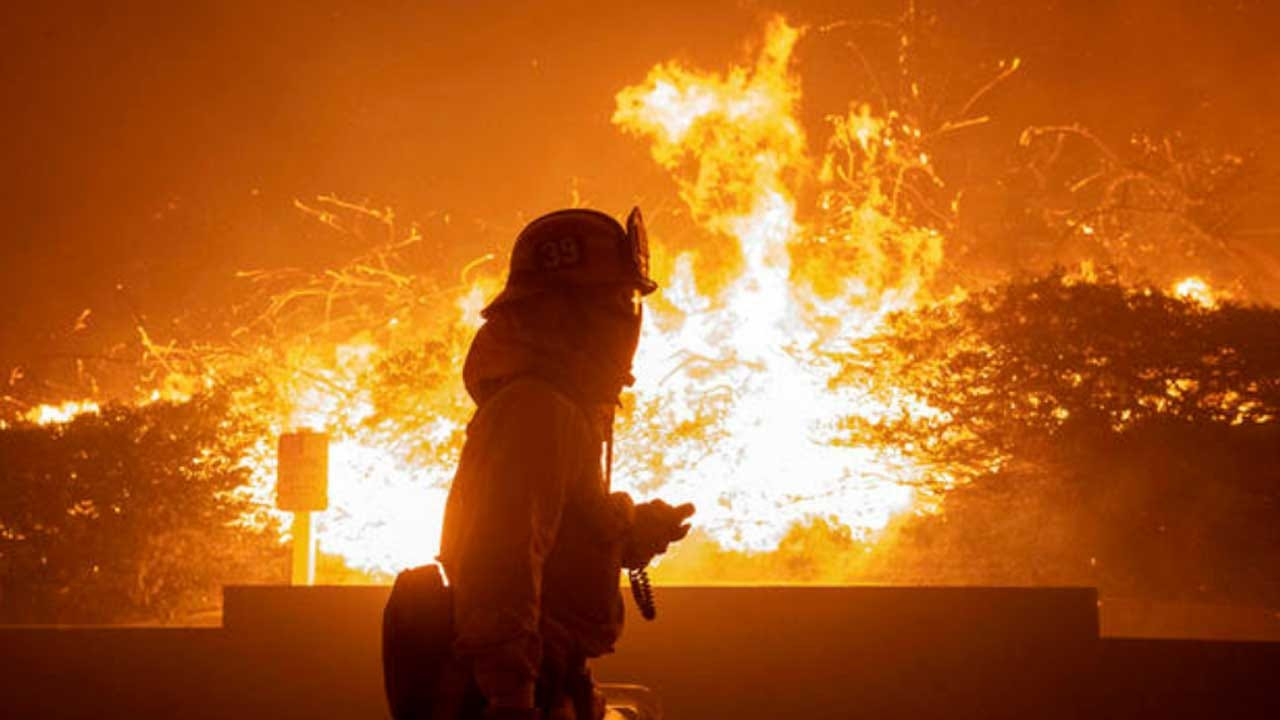 Wildfire Explodes In Southern California, Prompting Mandatory Evacuations Amid Power Outages